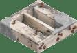 Konstruksi kayu dengan mortar dan paku