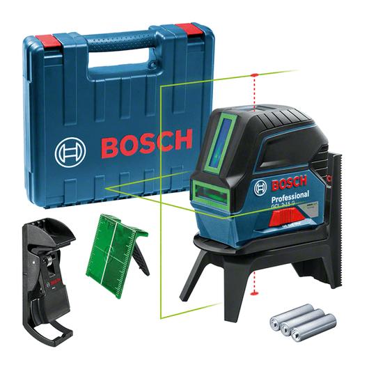 dalam kotak perkakas dengan 3 x baterai (AA), pelat target laser